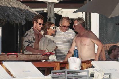 Los actores Michael Fassbender y Alicia Vikander en Ibiza.