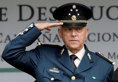 General Salvador Cienfuegos, durante un acto militar en 2016.