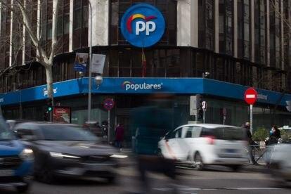 Sede nacional del Partido Popular en la calle Génova, 13.