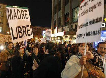 La petición de un aborto más flexible es una constante en las manifestaciones del Día de la Mujer.