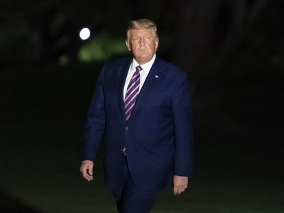 El presidente estadounidense, Donald Trump, este viernes en la Casa Blanca.
