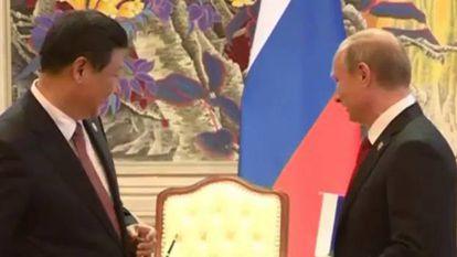 Putin y Xi firman el acuerdo de sumunistro de gas.
