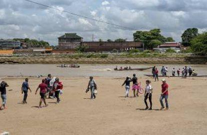 Migrantes venezolanos en Arauca, Colombia.