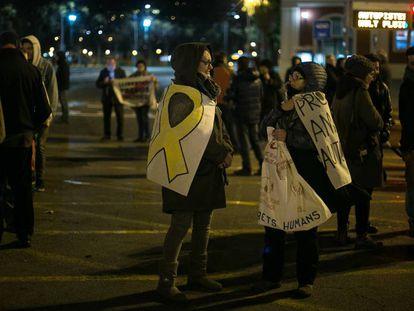 Protestas  contra la sentencia del 'procés' en la Meridiana.