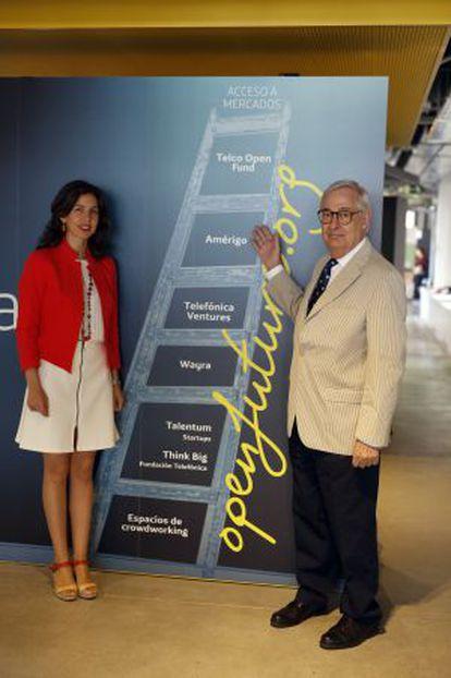 Ana Segurado y Luis Solana, responsables de Open Future de Telefónica