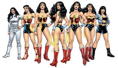 La evolución de Wonder Woman.