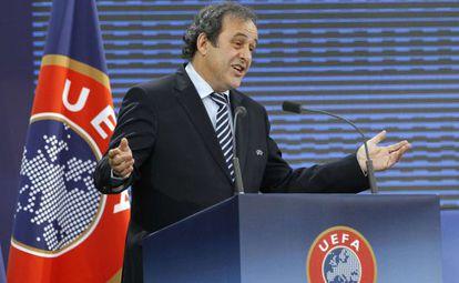 Platini, en el congreso de la UEFA