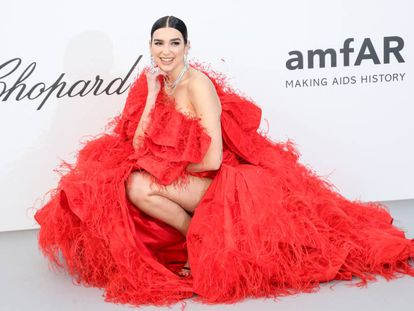 La cantante Dua Lipa en el festival de Cannes, en Francia, el pasado mayo.