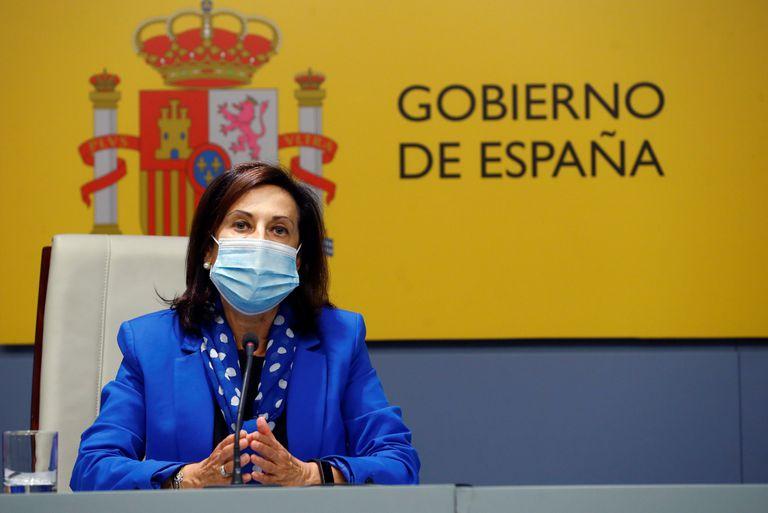 La ministra de Defensa, Margarita Robles, durante una rueda de prensa el pasado septiembre en Madrid.