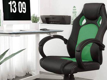 La silla Songmics Racing es uno de los cuatro modelos de silla ergonómica para teletrabajar presentes en esta comparativa.