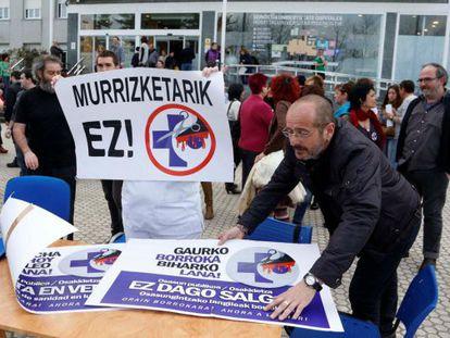 Una de las movilizaciones realizadas por el personal del Hospital Donostia.