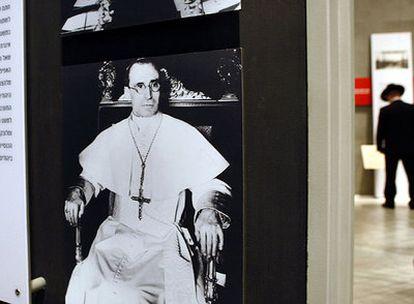 Imagen de Pío XII en el Museo del Holocausto de Jerusalén.