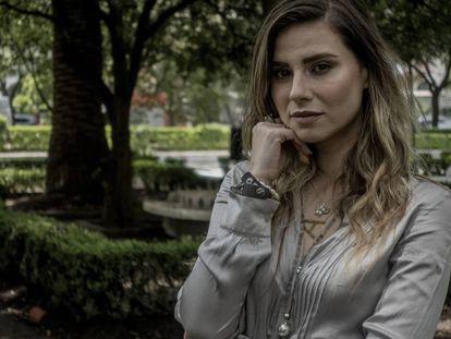 Ana Lucía Salazar en una entrevista en Ciudad de México.