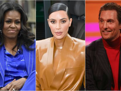 Michelle Obama, Kim Kardashian y Matthew McConaughey.