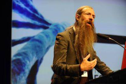Aubrey de Grey, en el congreso de Valencia.