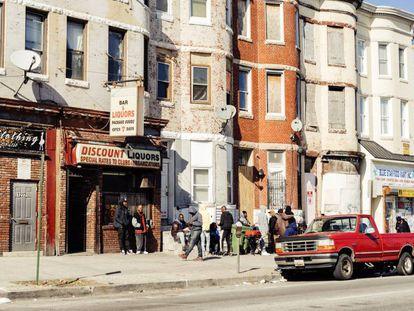 La avenida W norte, una de las arterias del West Baltimore, la zona más sacudida por la violencia.