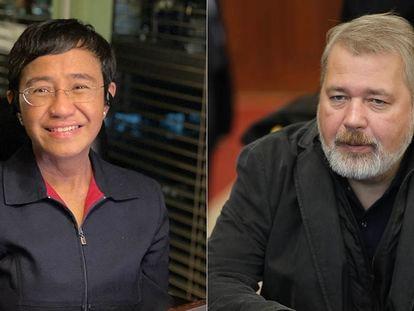 Maria Ressa y Dmitri Muratov, ganadores del Nobel de la Paz 2021.
