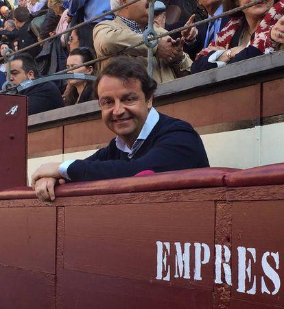 Rafael García Garrido, en el burladero de la empresa, en Las Ventas.