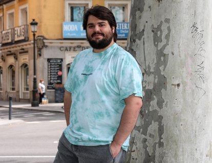 El actor Brays Efe fotografiado en Madrid en 2020.