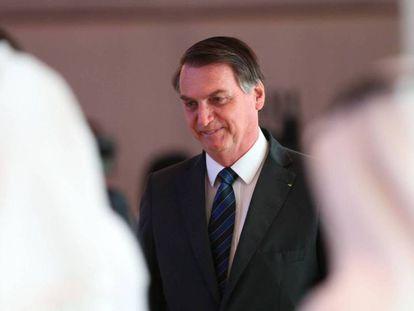 Jair Bolsonaro en Abu Dhabi el pasado 27 de octubre. En vídeo, declaraciones de Bolsonaro.