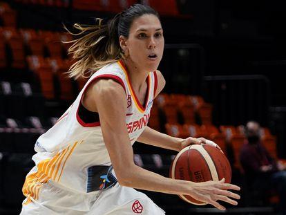 Anna Cruz, en la última concentración con la selección. feb