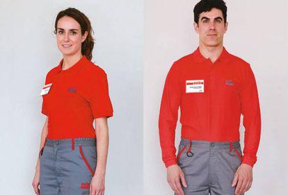 El uniforme reglamentario de la compañía es de pantalón.