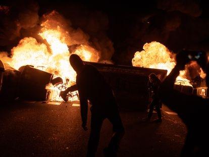 Un momento de los recientes disturbios en Barcelona por el encarcelamiento del rapero Pablo Hasél.
