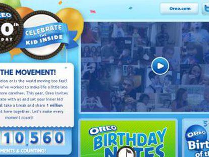 Imagen de la página web del centenario de Oreo.