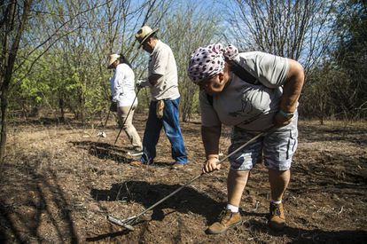 El colectivo Voces Unidas por la Vida en búsqueda de desaparecidos en Culiacá, Sinaloa.
