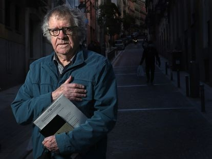 El hispanista y escritor Ian Gibson, el 23 de abril en el barrio de Lavapies Madrid.