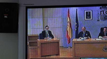 Rajoy, durante su declaración.