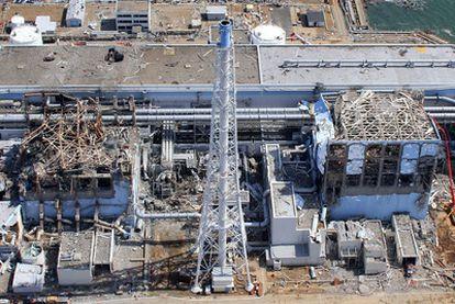 Vista aérea de la central nuclear de Fukushima, en el noreste de Japón.