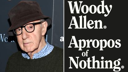Woody Allen in 2017 and, on the right, cover of the book of his memoirs, published by Skyhorse, the same publisher that has now rescued the biography of Philip Roth.