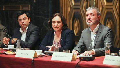 Ada Colau y Jaume Collboni durante el año y medio en que fueron socios de gobierno.