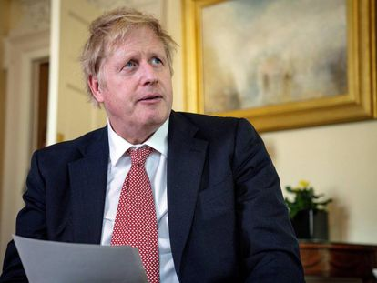 Boris Johnson interviene en televisión tras su alta médica.