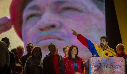El presidente de venezolano, Nicolás Maduro, en un discurso.
