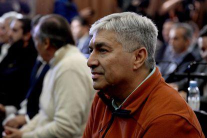 El empresario argentino Lázaro Báez en los tribunales, en octubre de 2018.