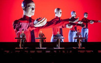 Kraftwerk, durante un concierto en julio de 2014 en Trencin (Eslovaquia).