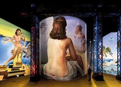 Un momento de la instalacióin inmersiva 'Dali. El enigma sin fin' que se verá en París a partir del día 19 de mayo.