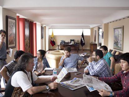 Imagen de la redacción del Diario La Hora.