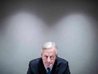 Michel Barnier, en el hotel Hesperia de Madrid el jueves.