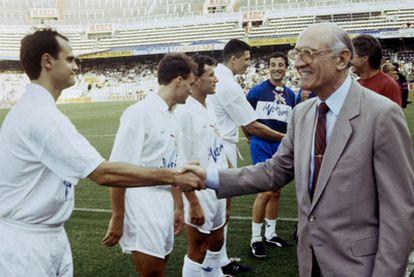 Arturo Tuzón, en un encuentro del Valencia de la temporada 92