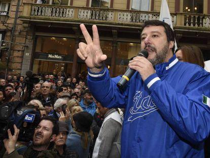 Matteo Salvini, durante un acto en Forlì, el pasado 11 de noviembre.