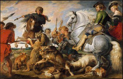 'Caza de zorros y lobos' (1616), de Peter Paul Rubens, conservado en el Metropolitan Museum de Nueva York.