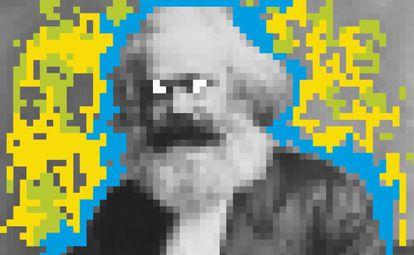 Ilustración de Karl Marx.