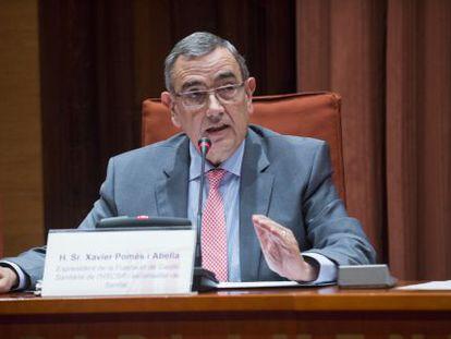 Xavier Pomès, ayer durante su comparecencia ante la comisión de sanidad del Parlament.