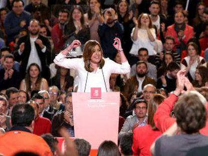 La intención de la aspirante a la secretaría general de los socialistas es compatibilizar el cargo, si es elegida, con la presidencia de Andalucía