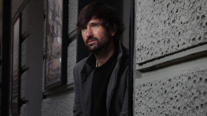 El músico David Otero, en una calle del centro de Madrid esta semana.