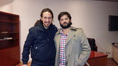 Gabriel Boric y Pablo Iglesias