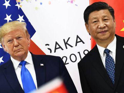Trump y Xi Jinping, en la cumbre del G20 en Osaka en junio